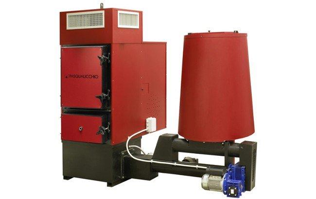 Generatore aria calda a biomassa